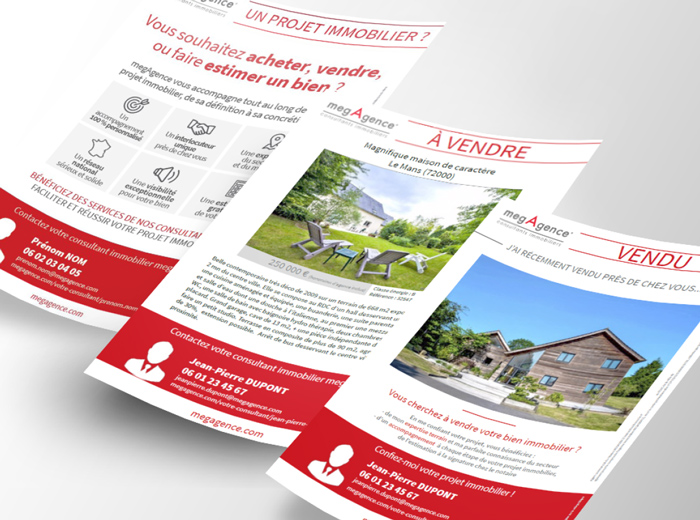 Flyers des mandataires immobiliers megAgence